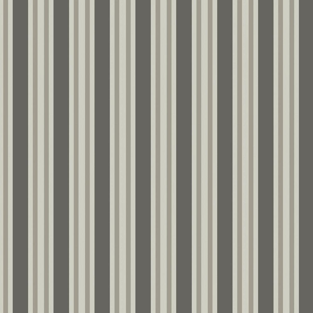 Polo Stripe Wallpaper - Black & White - by Cole & Son