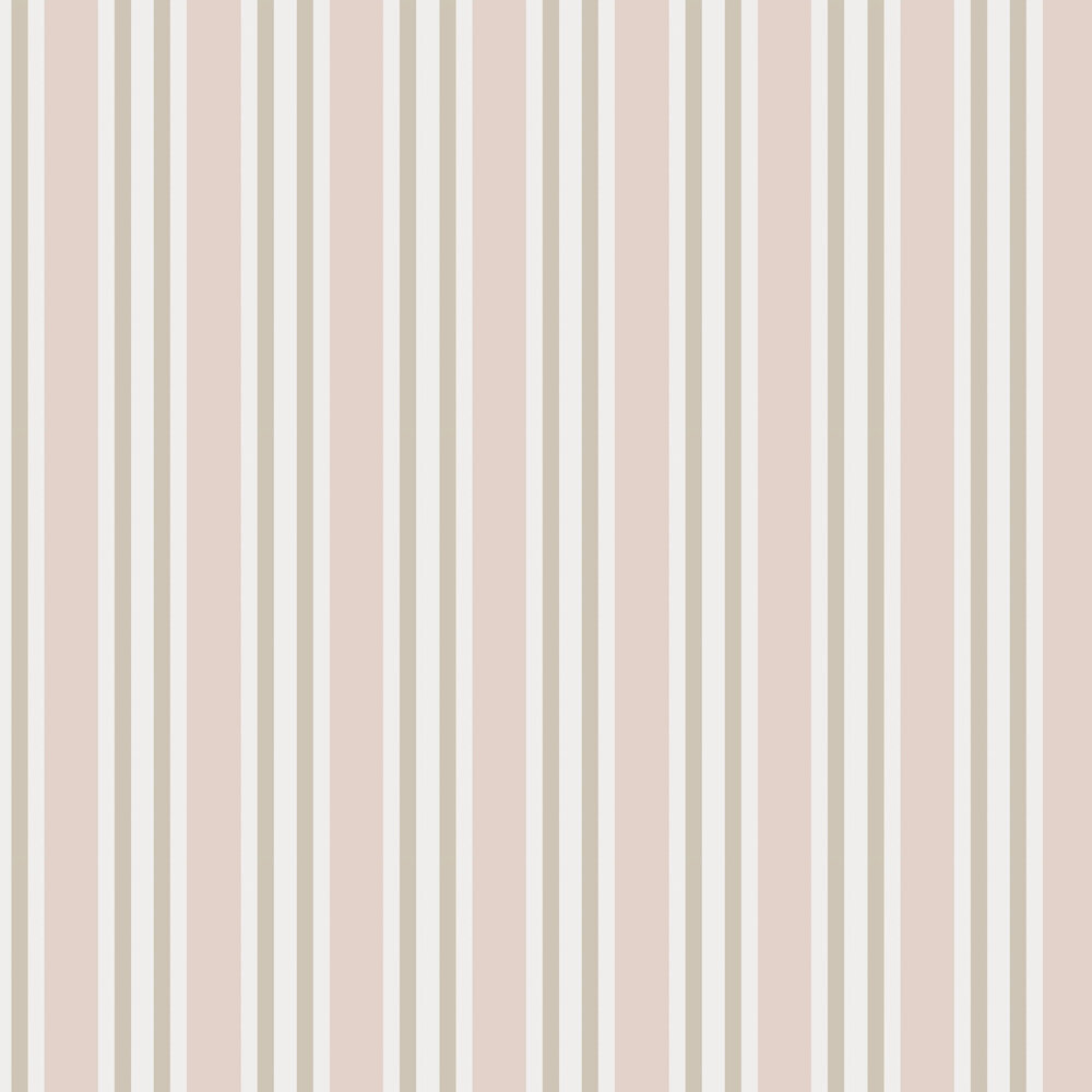Polo Stripe Wallpaper - Soft Pink - by Cole & Son