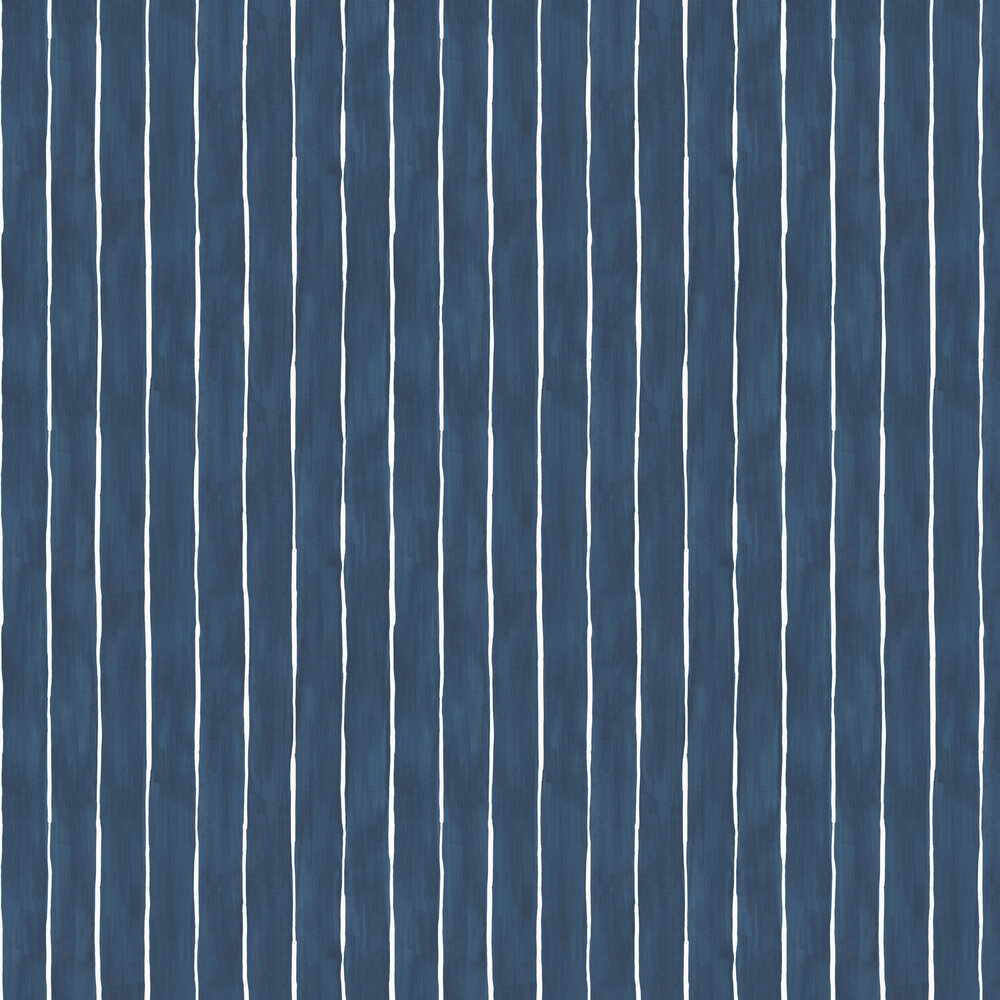 Marquee Stripe Wallpaper - Ink - by Cole & Son