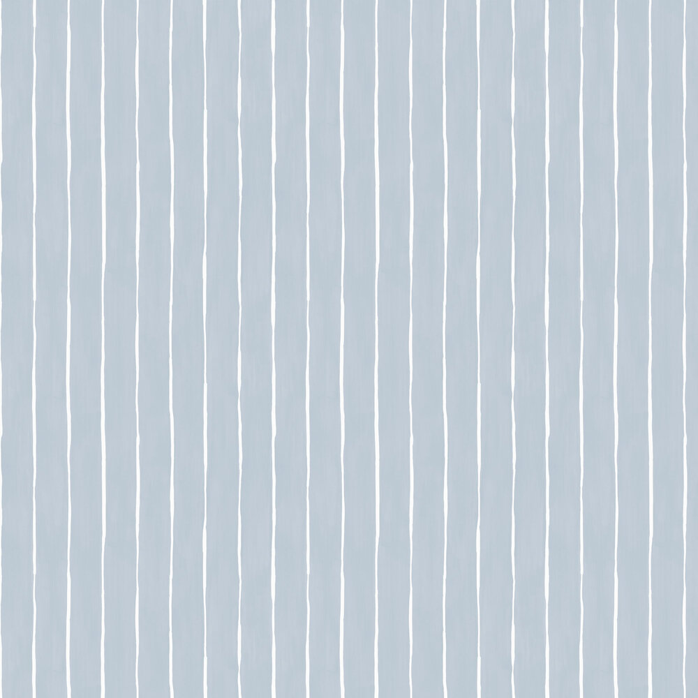 Marquee Stripe Wallpaper - Pale Blue - by Cole & Son