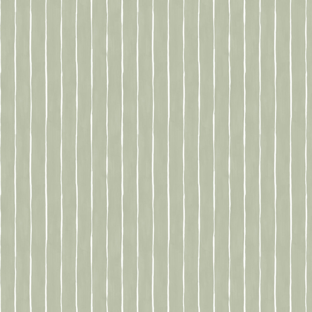 Marquee Stripe Wallpaper - Soft Olive - by Cole & Son