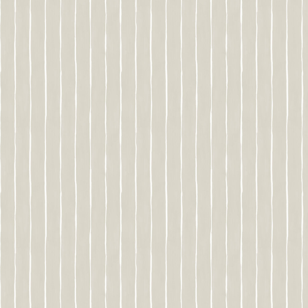 Marquee Stripe Wallpaper - Soft Grey - by Cole & Son