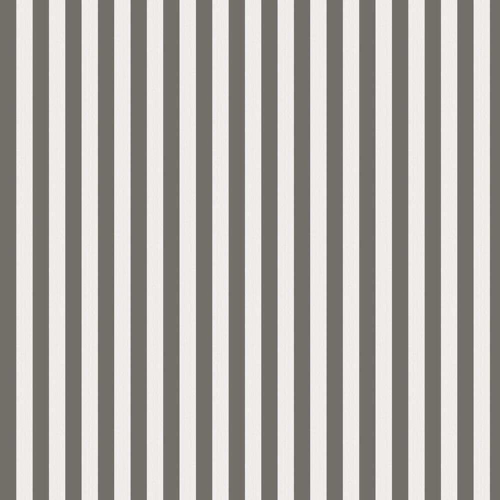 Regatta Stripe Wallpaper - Black & White - by Cole & Son