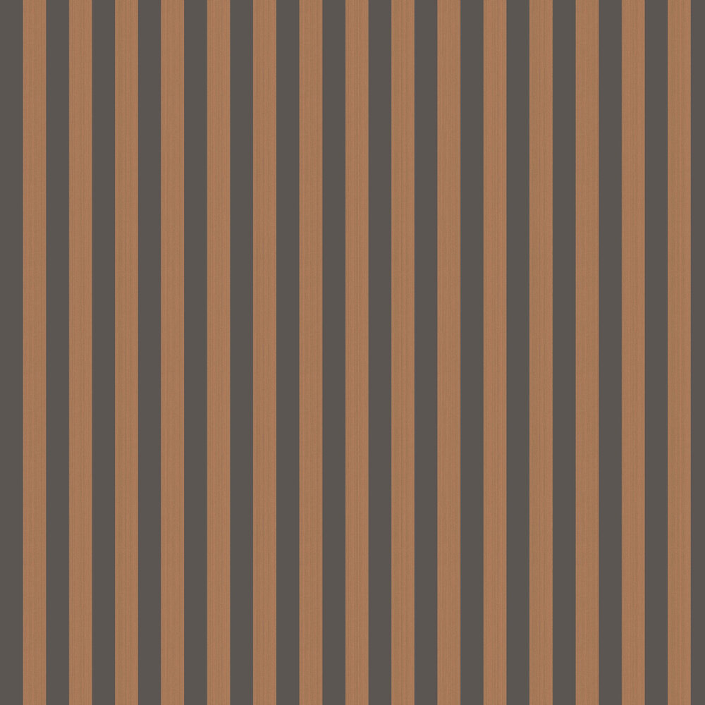 Regatta Stripe Wallpaper - Tan & Black - by Cole & Son