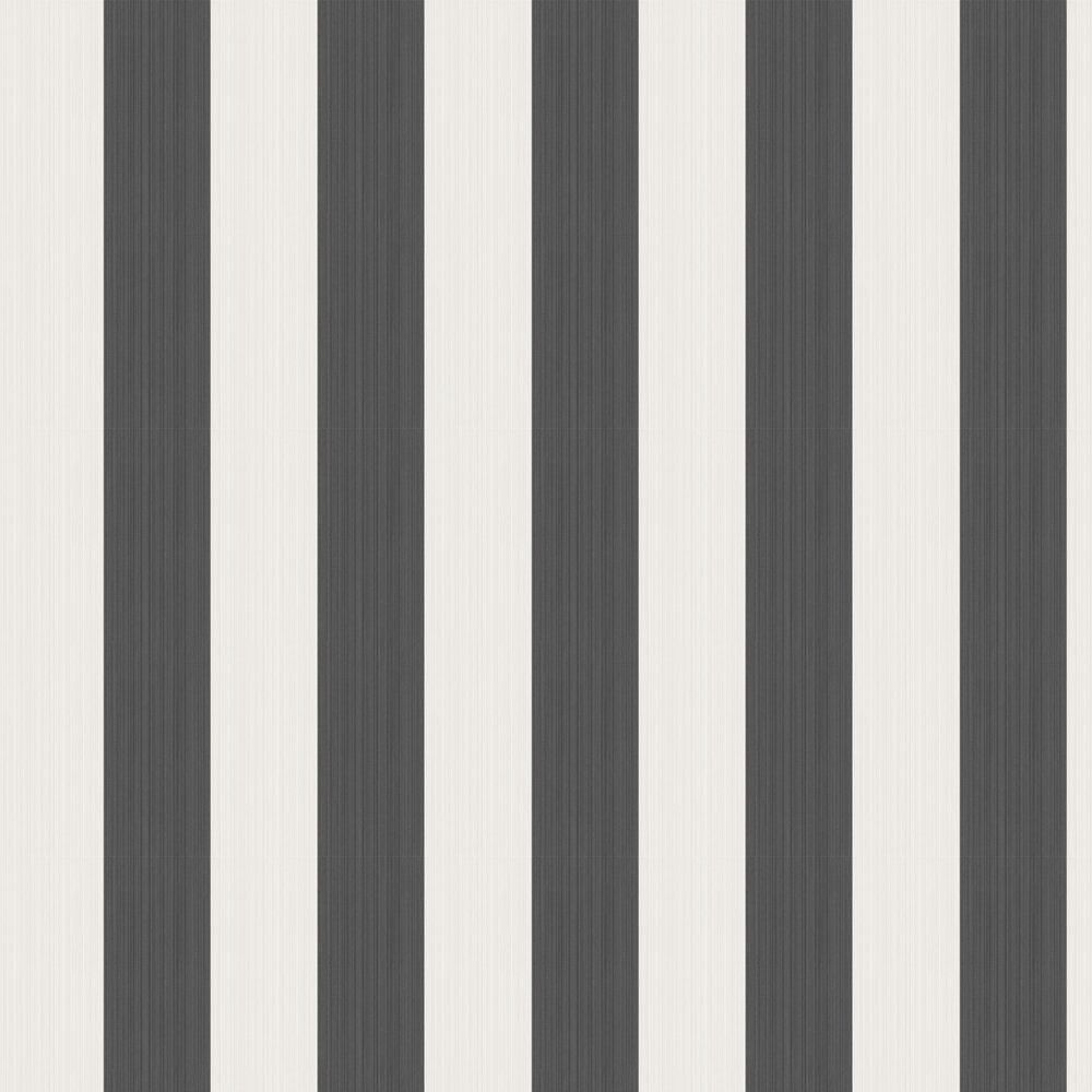 Jaspe Stripe Wallpaper - Black & White - by Cole & Son