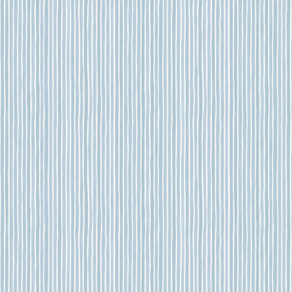 Croquet Stripe Wallpaper - Blue - by Cole & Son