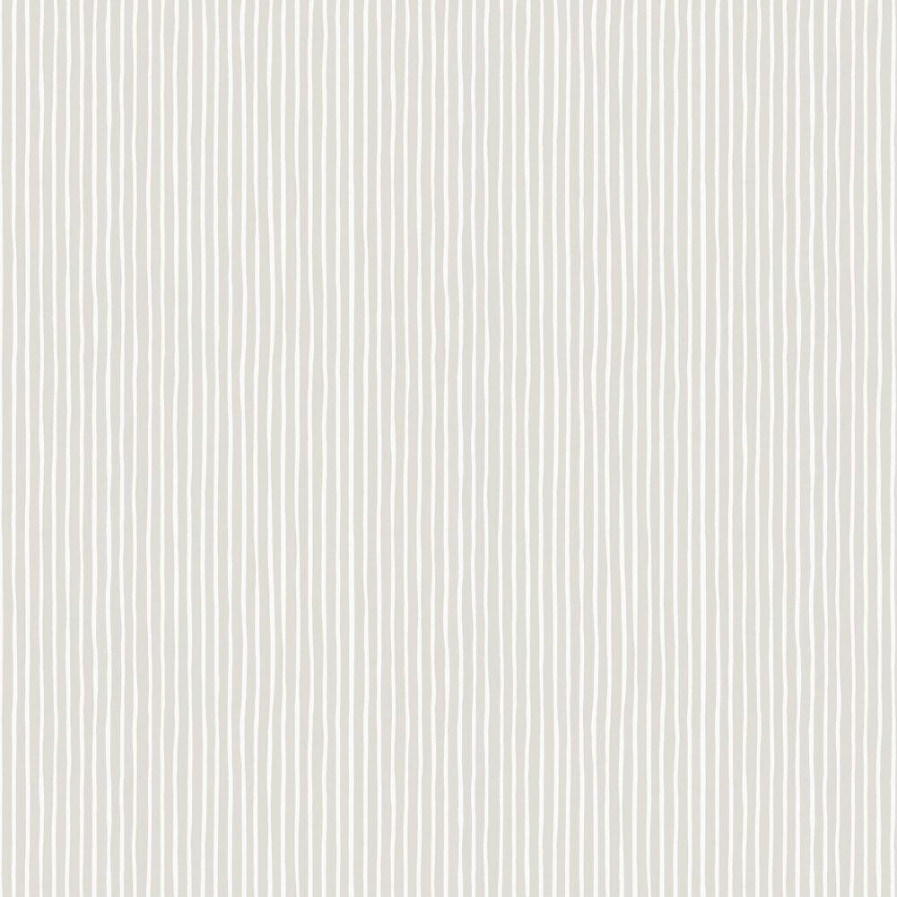 Croquet Stripe Wallpaper - Parchment - by Cole & Son