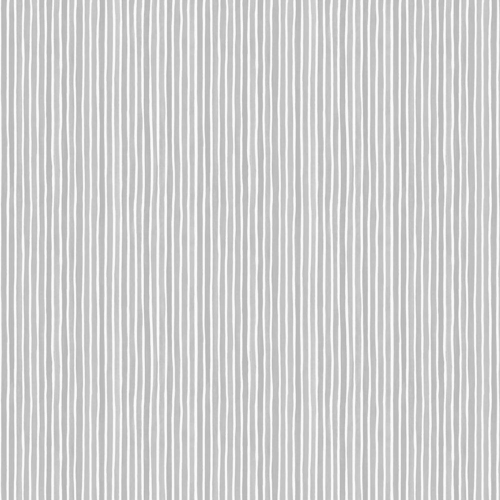 Croquet Stripe Wallpaper - Soft Grey - by Cole & Son