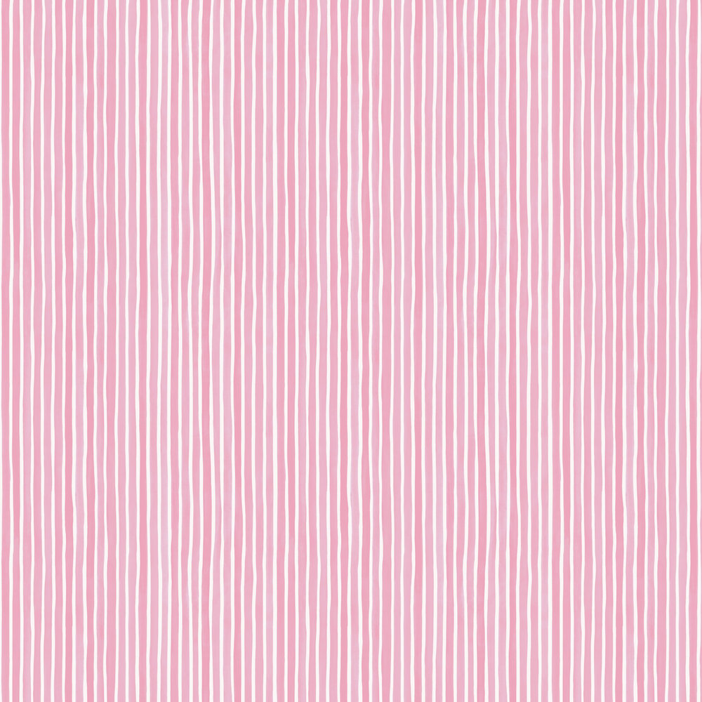 Croquet Stripe Wallpaper - Soft Pink - by Cole & Son
