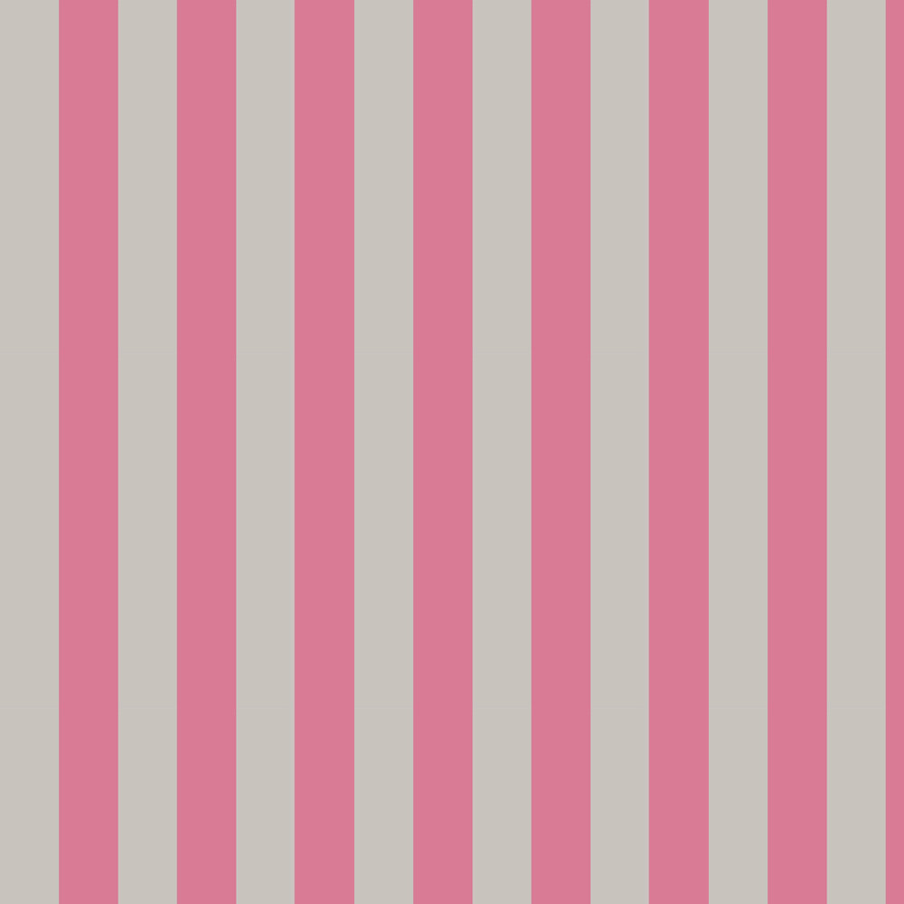 Cole & Son Glastonbury Stripe Pink & Linen Wallpaper - Product code: 110/6031