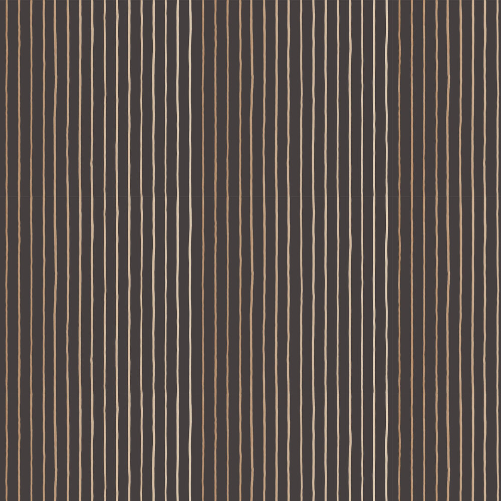 College Stripe Wallpaper - Charcoal - by Cole & Son