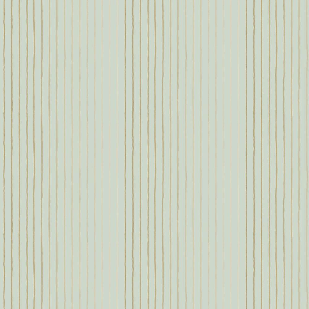 College Stripe Wallpaper - Duckegg & Gilver - by Cole & Son