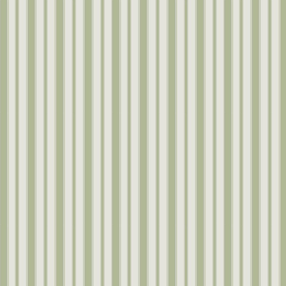 Cambridge Stripe Wallpaper - Leaf Green - by Cole & Son