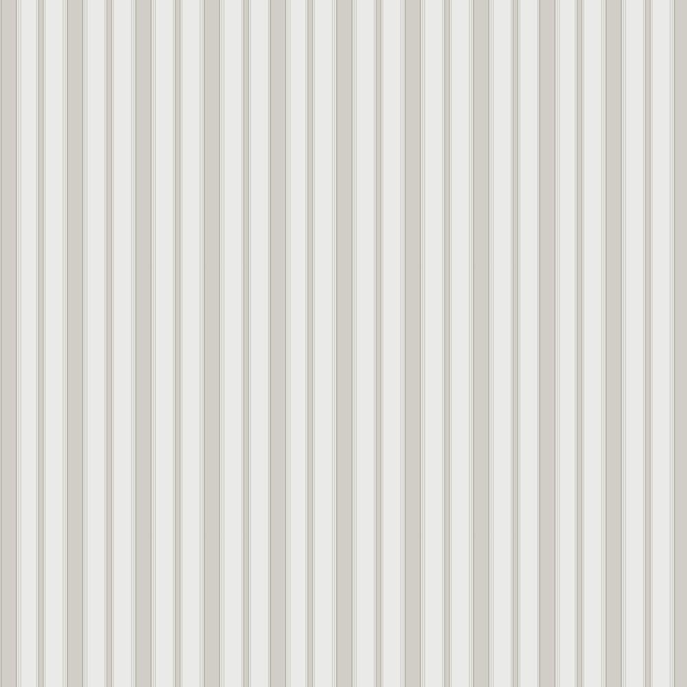 Cambridge Stripe Wallpaper - Stone & White - by Cole & Son
