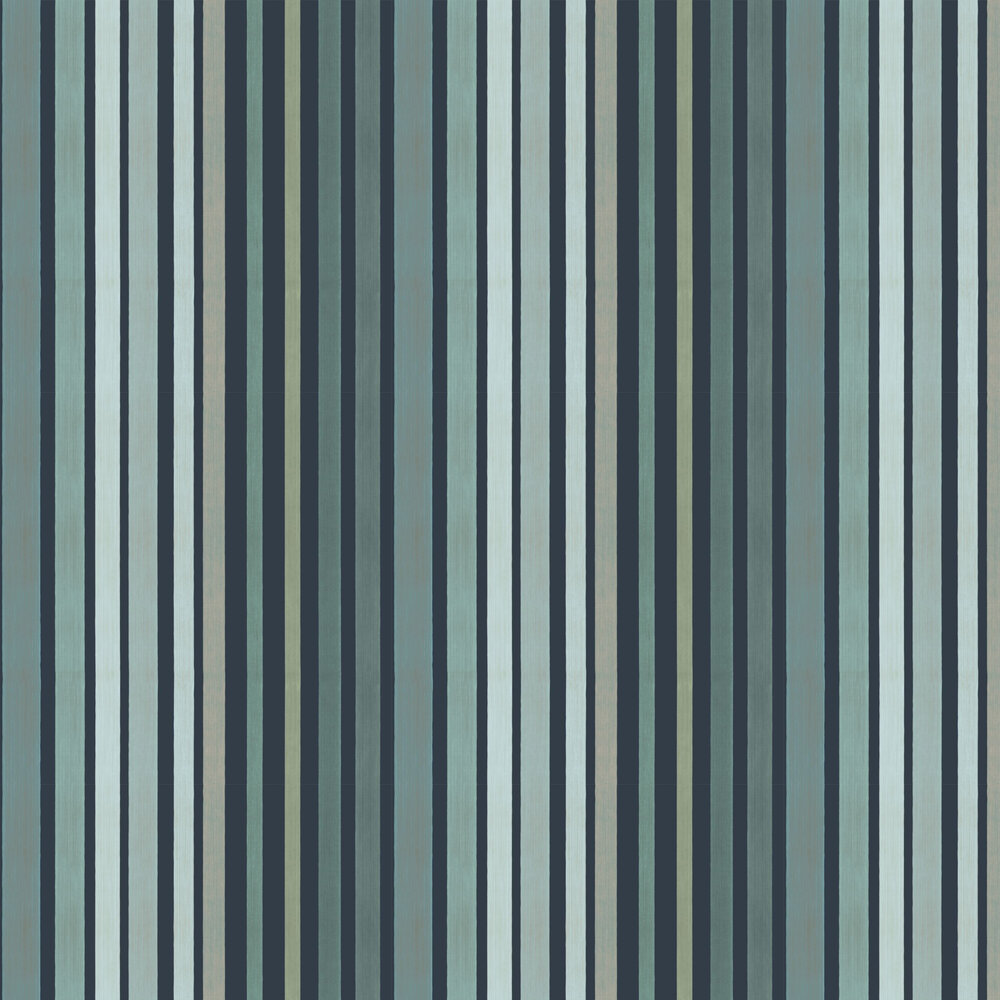 Cole & Son Carousel Stripe Frosty Green Wallpaper - Product code: 110/9041