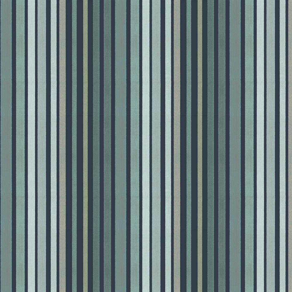 Carousel Stripe Wallpaper - Frosty Green - by Cole & Son