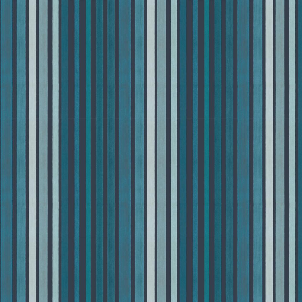 Cole & Son Carousel Stripe Blue Wallpaper - Product code: 110/9042
