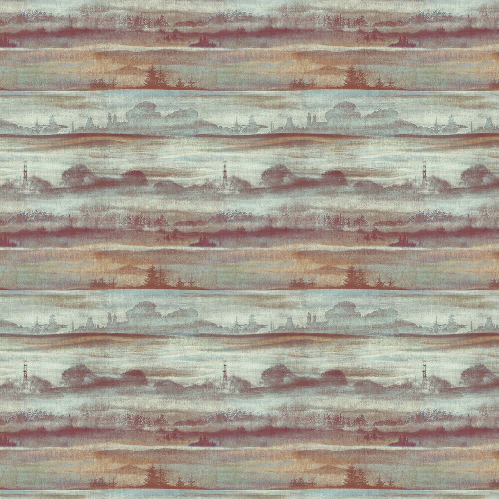 Elizabeth Ockford Sorengo Green / Copper Wallpaper - Product code: WP0101003
