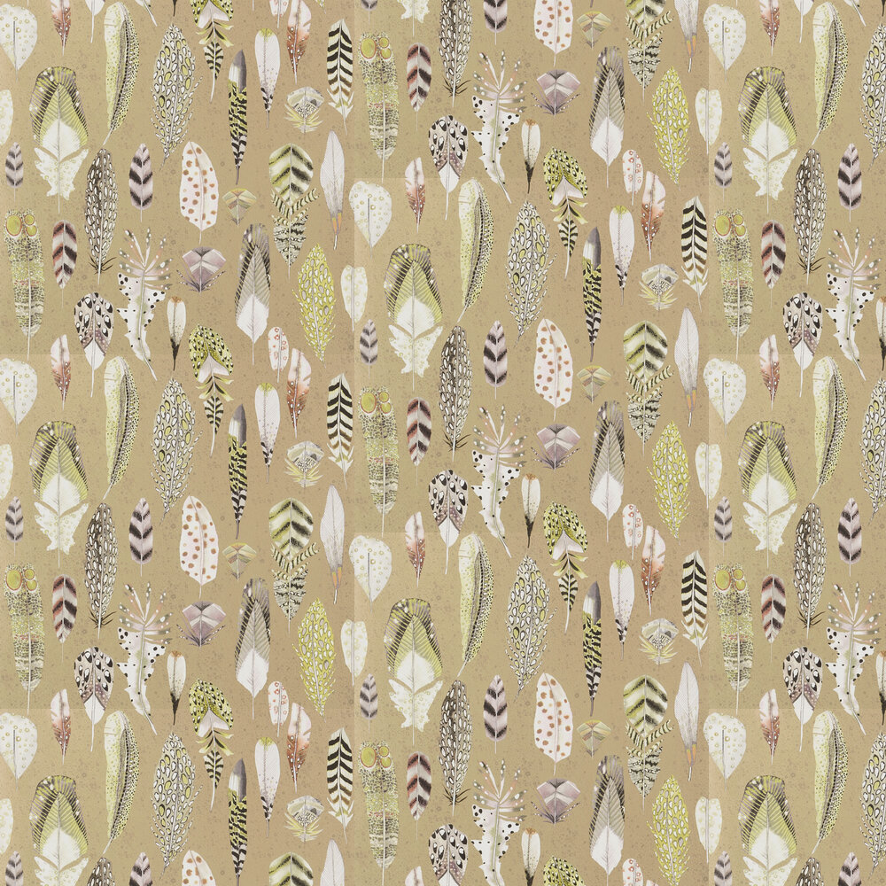 Quill Wallpaper - Metallic Gold - by Designers Guild