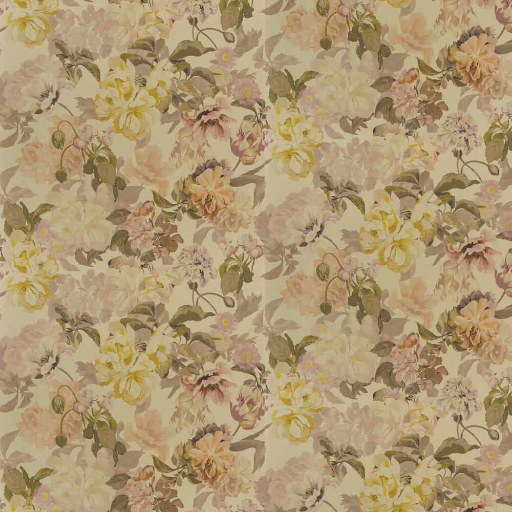 Delft Flower Wallpaper - Metallic Gold - by Designers Guild