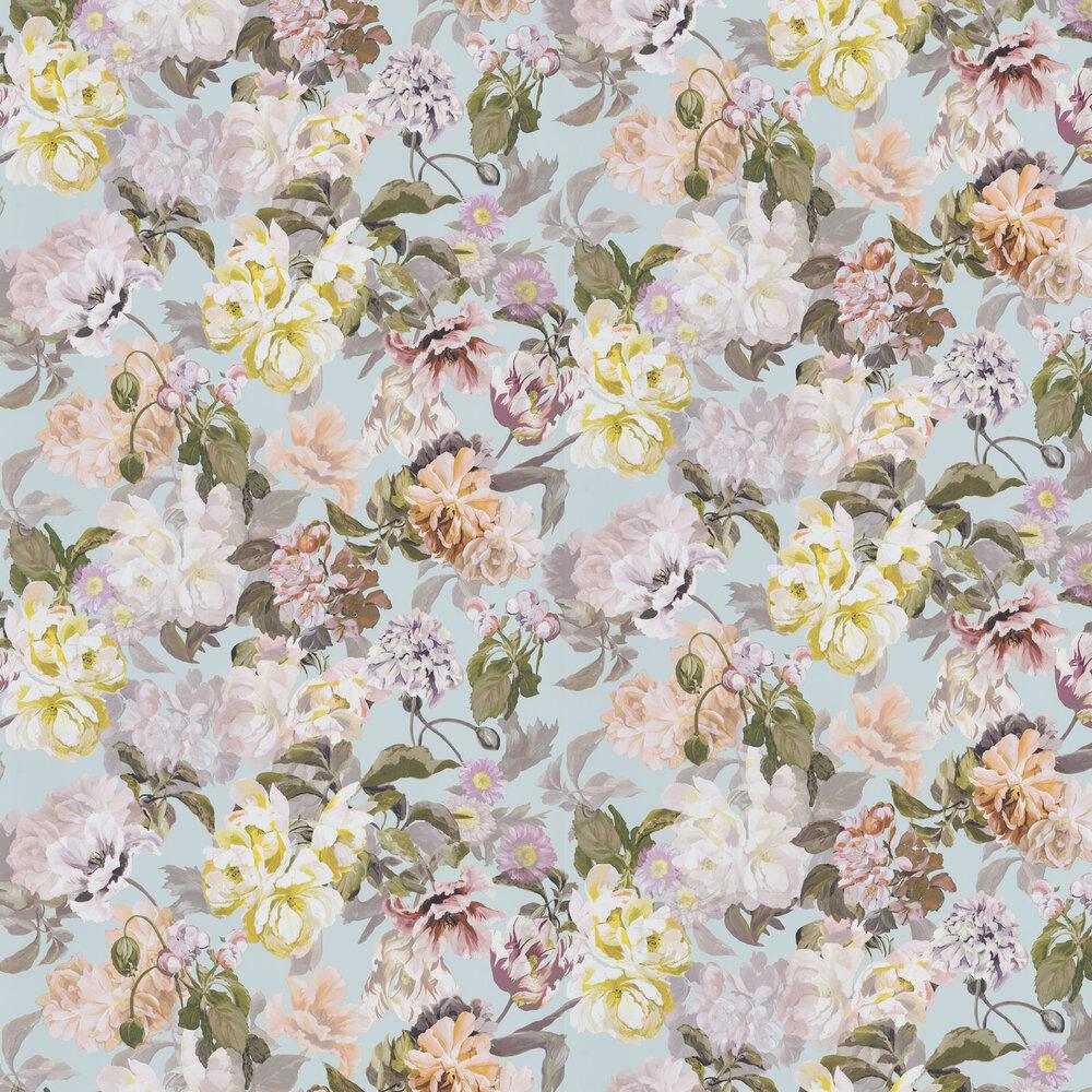 Delft Flower Wallpaper - Duck Egg - by Designers Guild