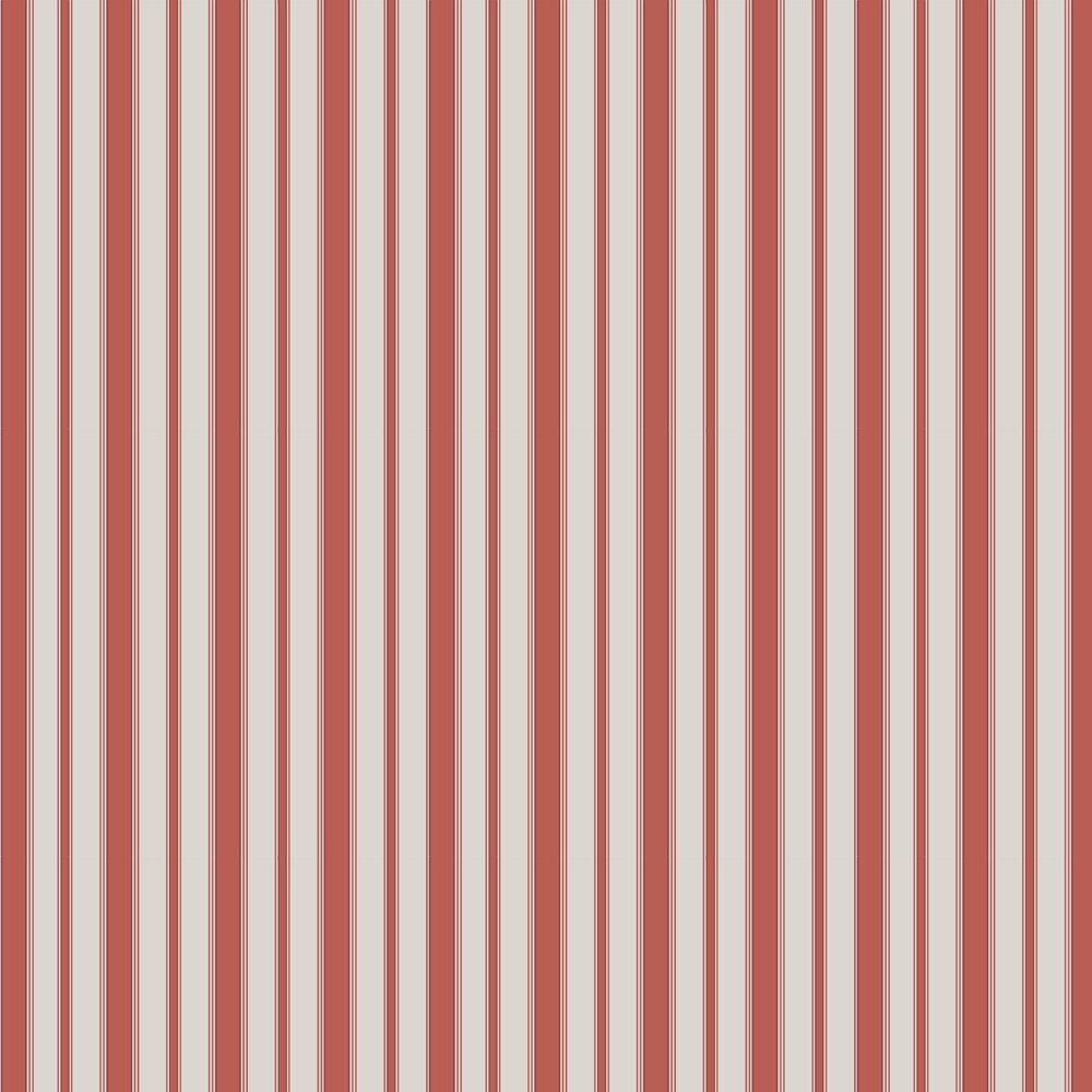 Cambridge Stripe Wallpaper - Red - by Cole & Son