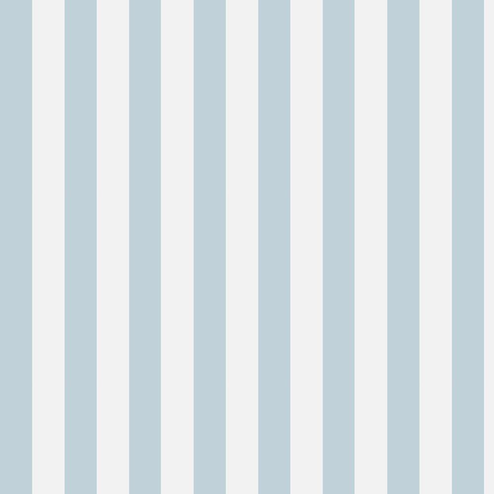 Glastonbury Stripe Wallpaper - Pale Blue - by Cole & Son