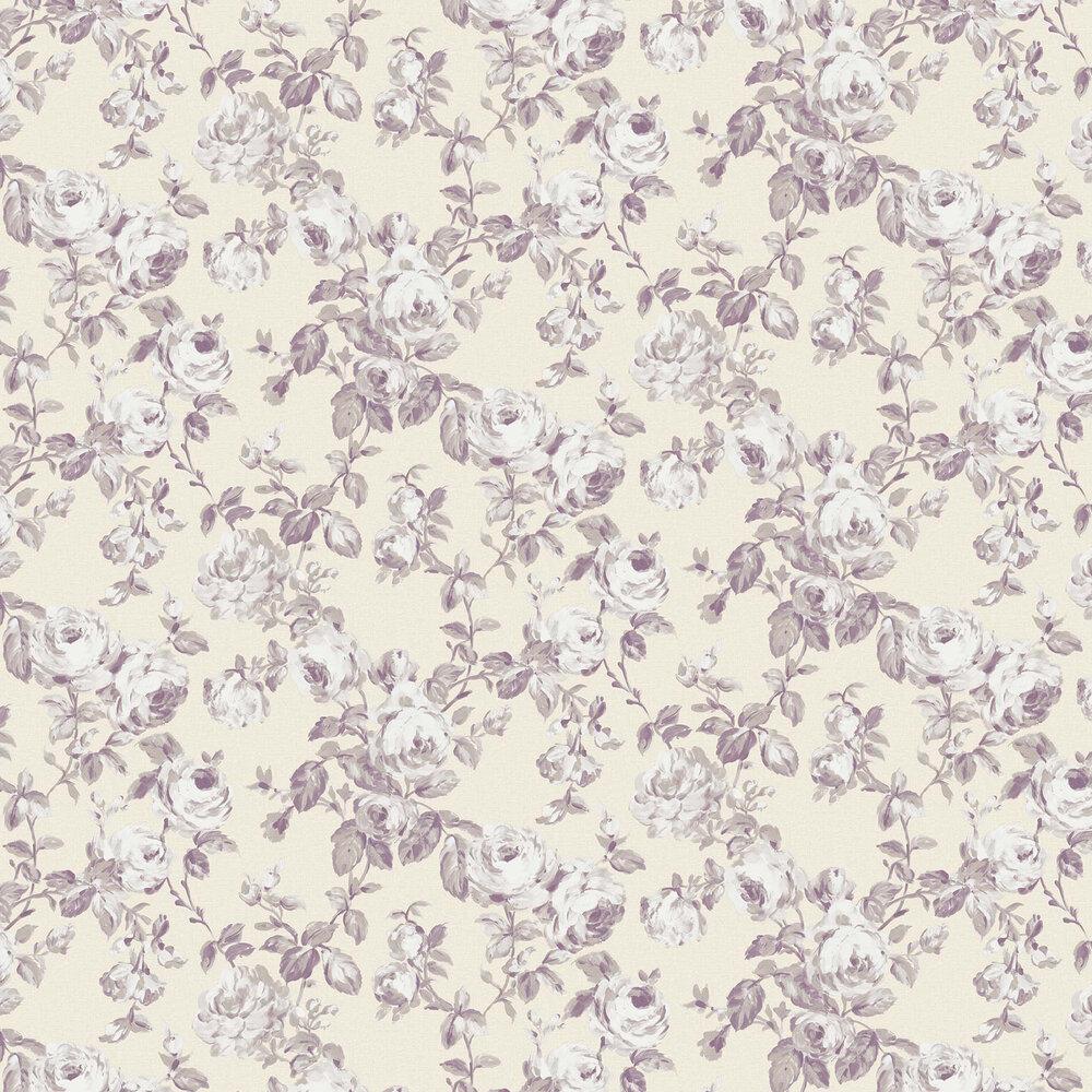 Elizabeth Ockford Melide Butter / Lavender Wallpaper - Product code: WP0100604