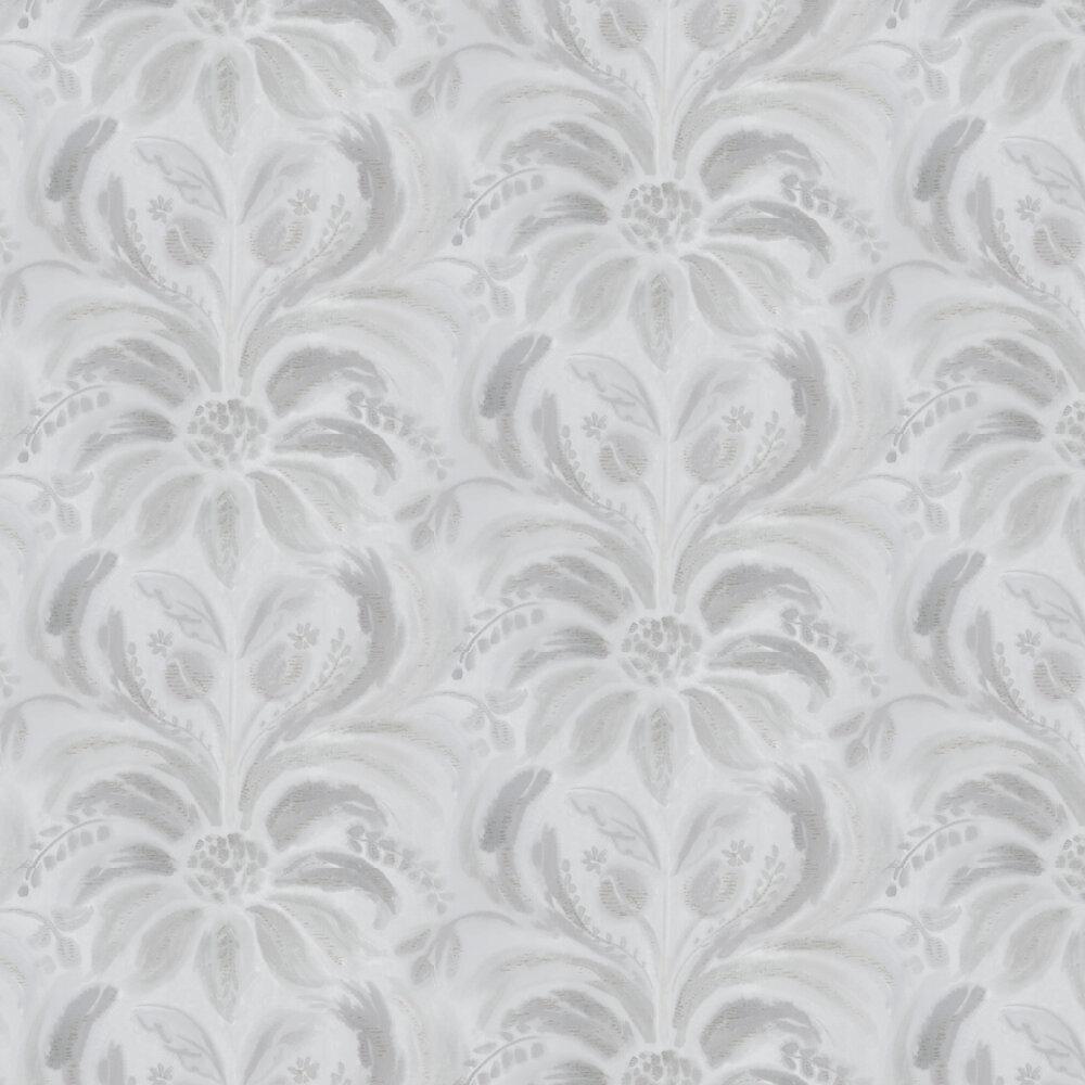 Angelique Damask Wallpaper - Steel - by Designers Guild