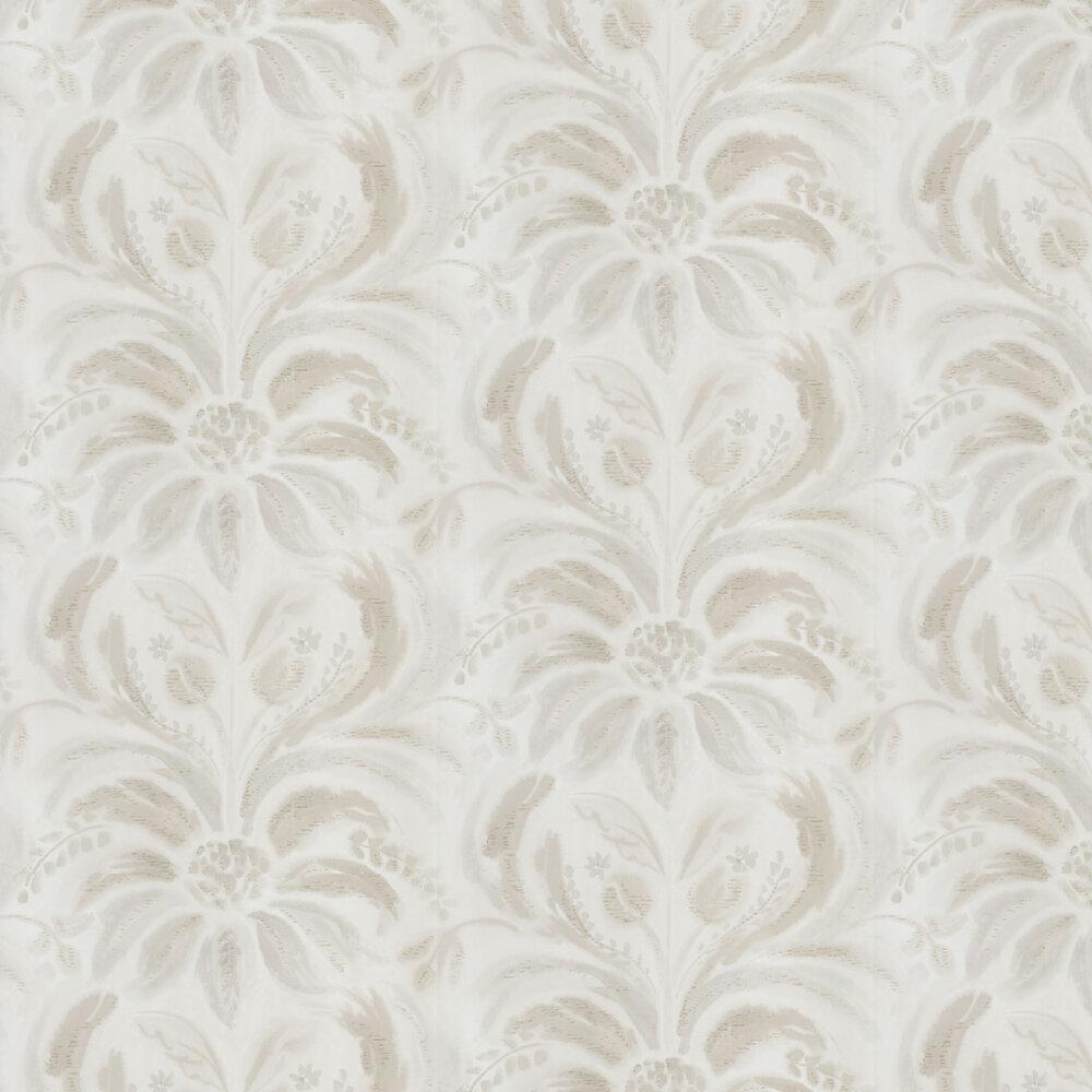 Angelique Damask Wallpaper - Linen - by Designers Guild