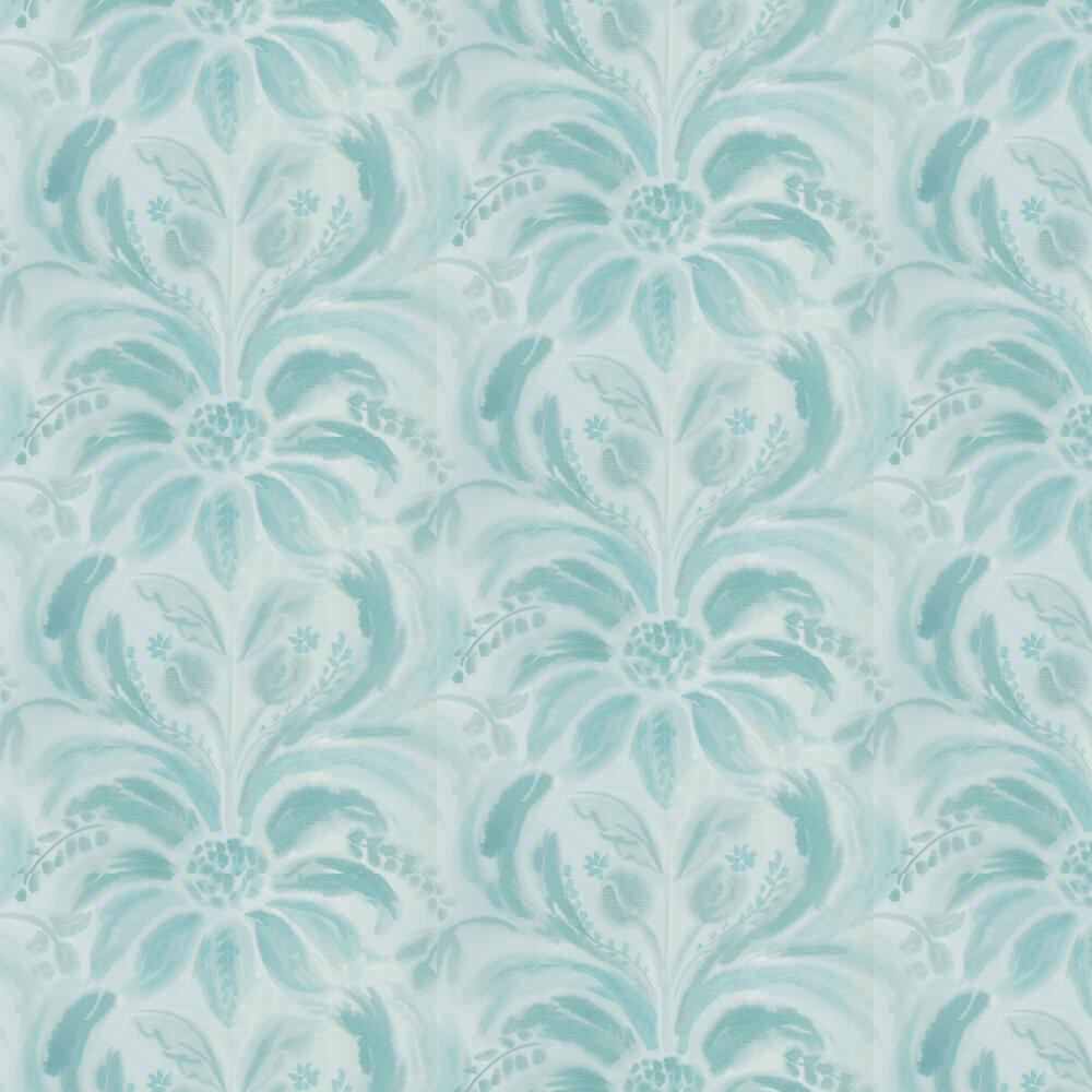 Angelique Damask Wallpaper - Jade - by Designers Guild
