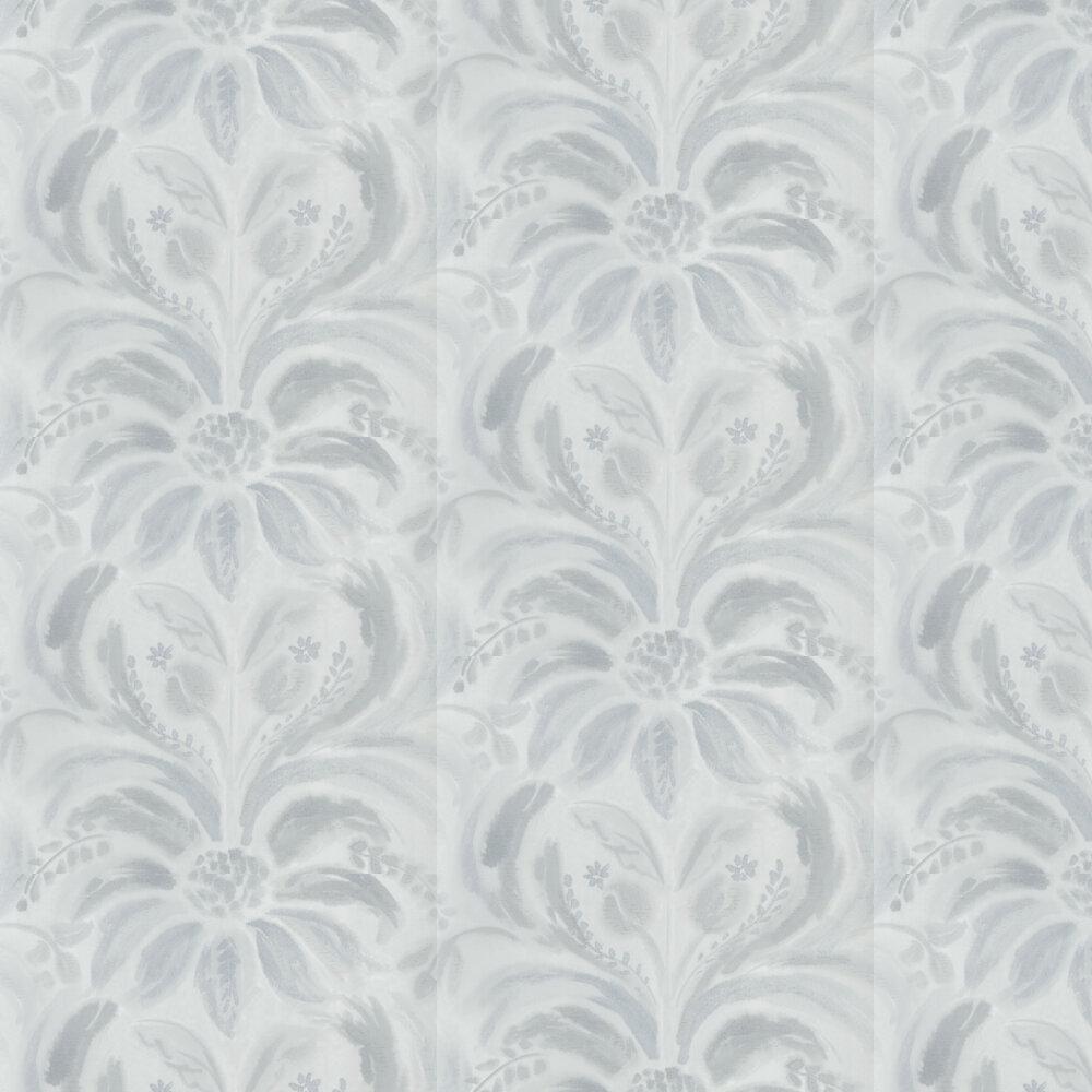 Angelique Damask Wallpaper - Graphite - by Designers Guild