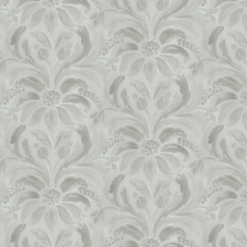 Angelique Damask Wallpaper - Stone - by Designers Guild