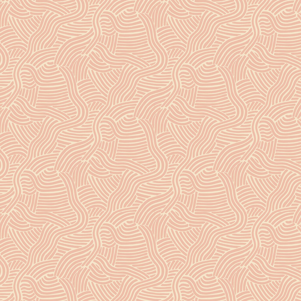 L A Sunset Wallpaper - Blush - by Linwood
