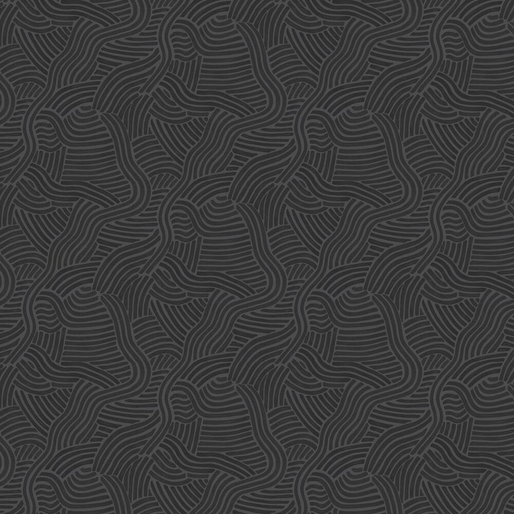 Linwood L A Sunset Jet Black Wallpaper - Product code: LW071/005