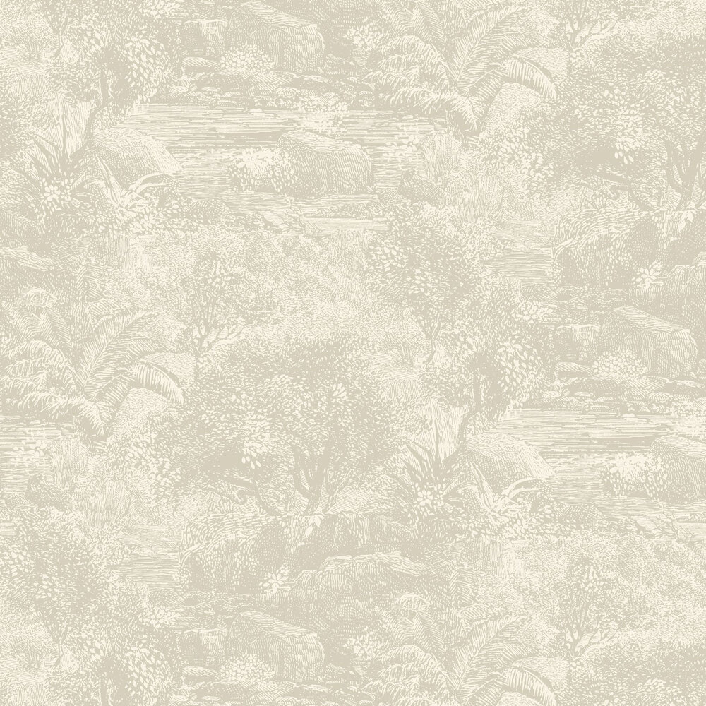 Island Paradise Wallpaper - Pearl - by Linwood