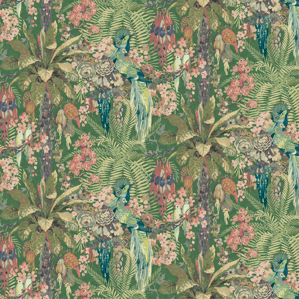 Linwood Rainforest Rabble Juniper Wallpaper - Product code: LW075/003