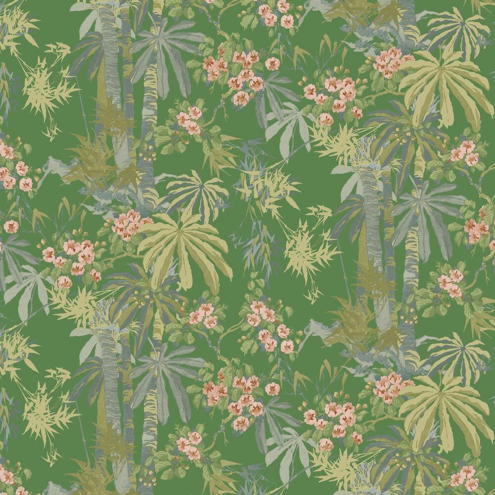 Linwood Bamboo Garden Emerald Wallpaper - Product code: LW077/004