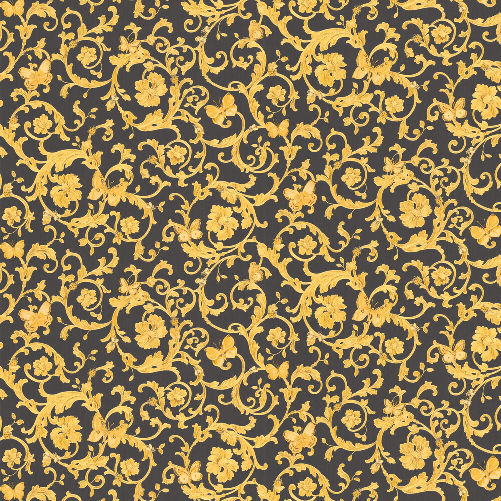 Ladybird Trail By Versace Black Gold Wallpaper Wallpaper Direct