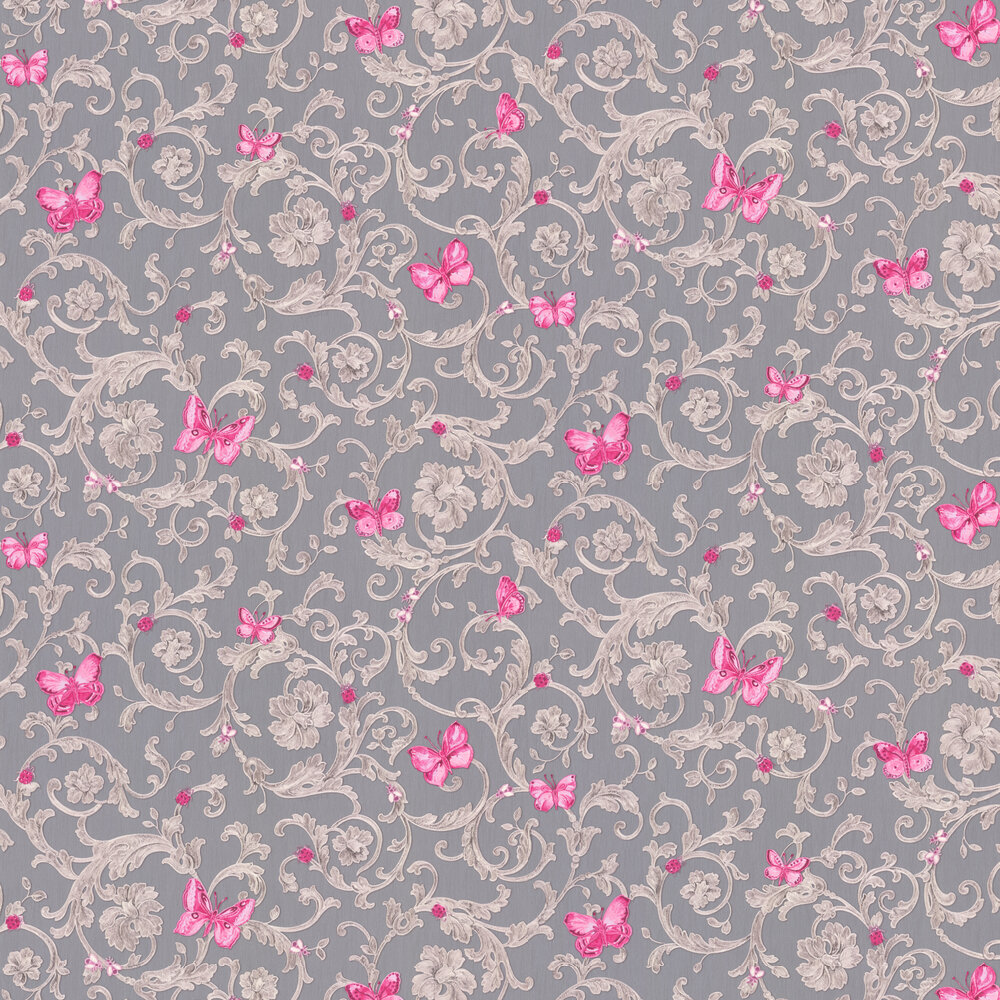 Versace Ladybird Trail Grey Wallpaper - Product code: 34325-5