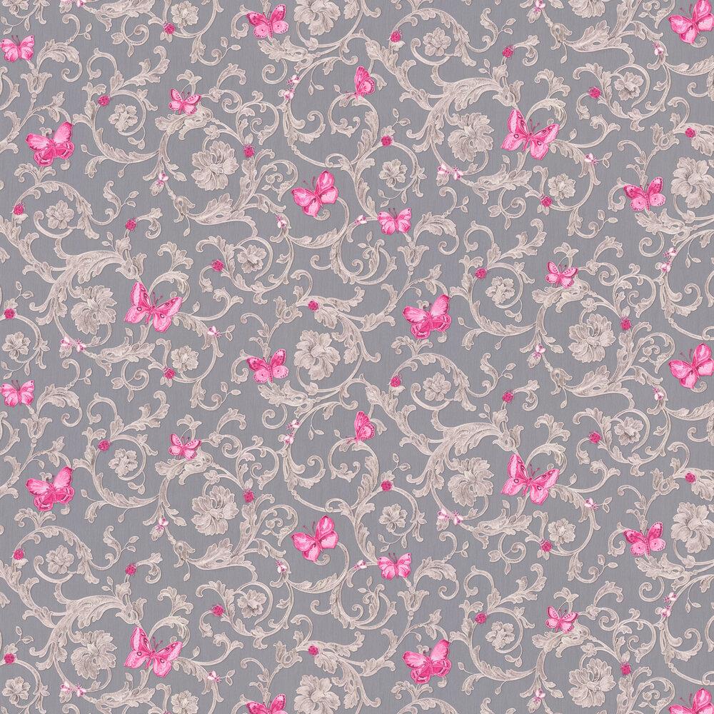 Ladybird Trail Wallpaper - Grey - by Versace