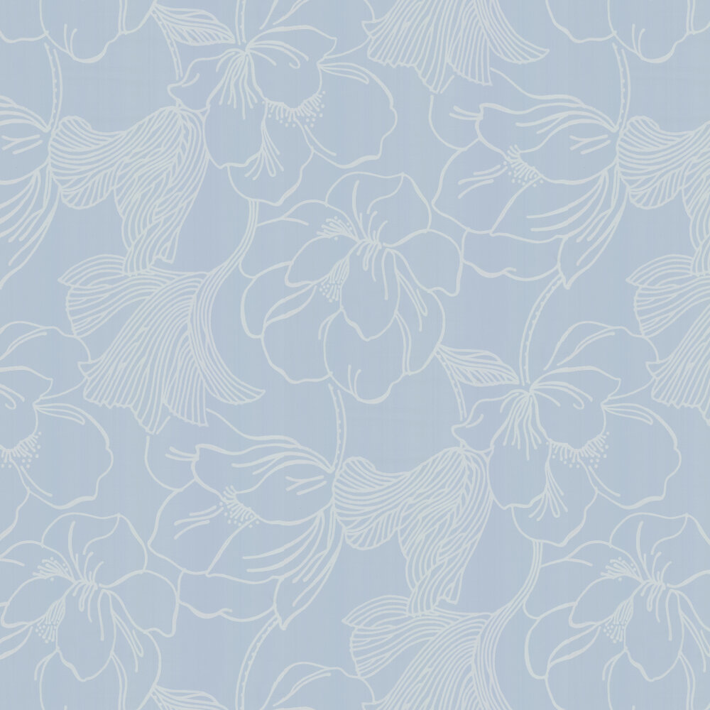 Helleborus By Farrow Ball Pale Blue Wallpaper Wallpaper Direct
