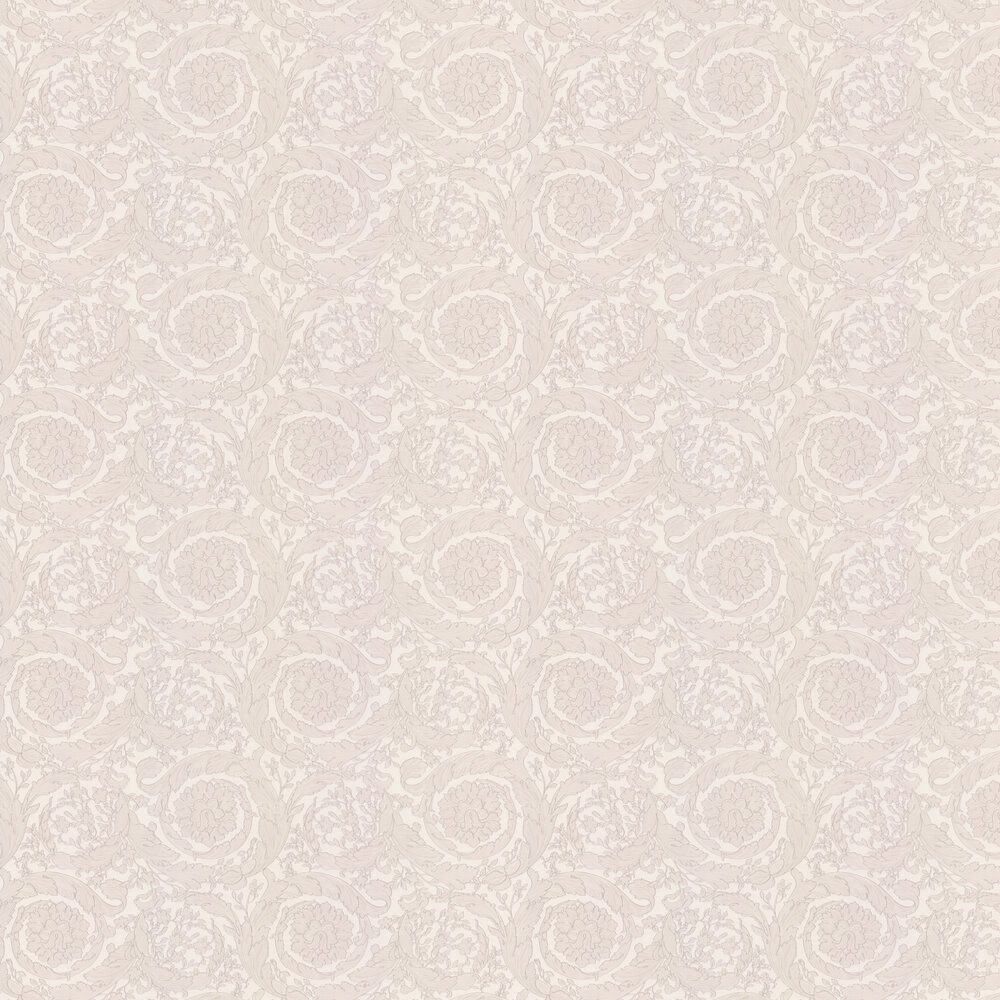 Barocco Flowers Wallpaper - White - by Versace