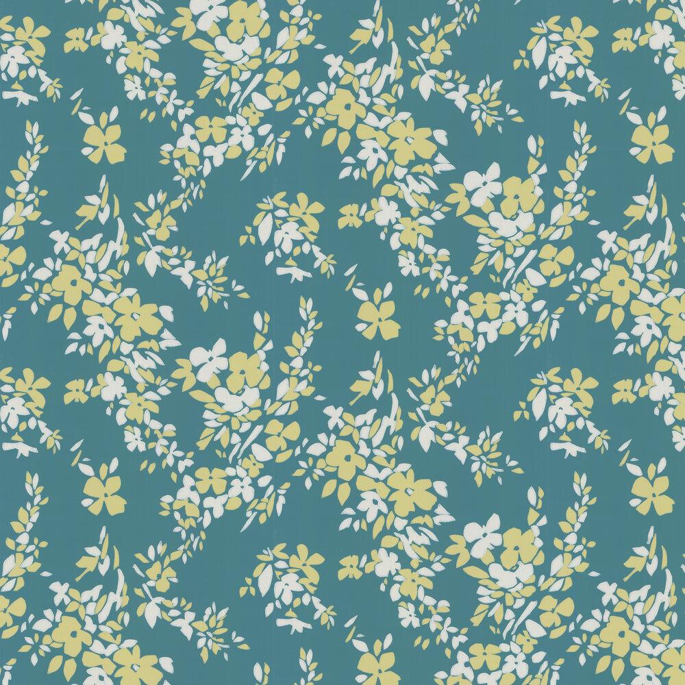 Farrow & Ball Hegemone Deep Teal Wallpaper - Product code: BP 5705