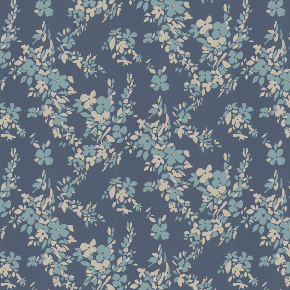 Farrow & Ball Hegemone Blue Wallpaper - Product code: BP 5706
