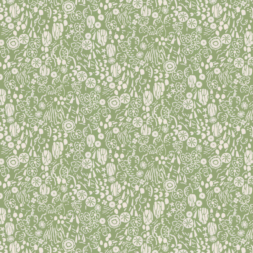 Atacama Wallpaper - Green - by Farrow & Ball