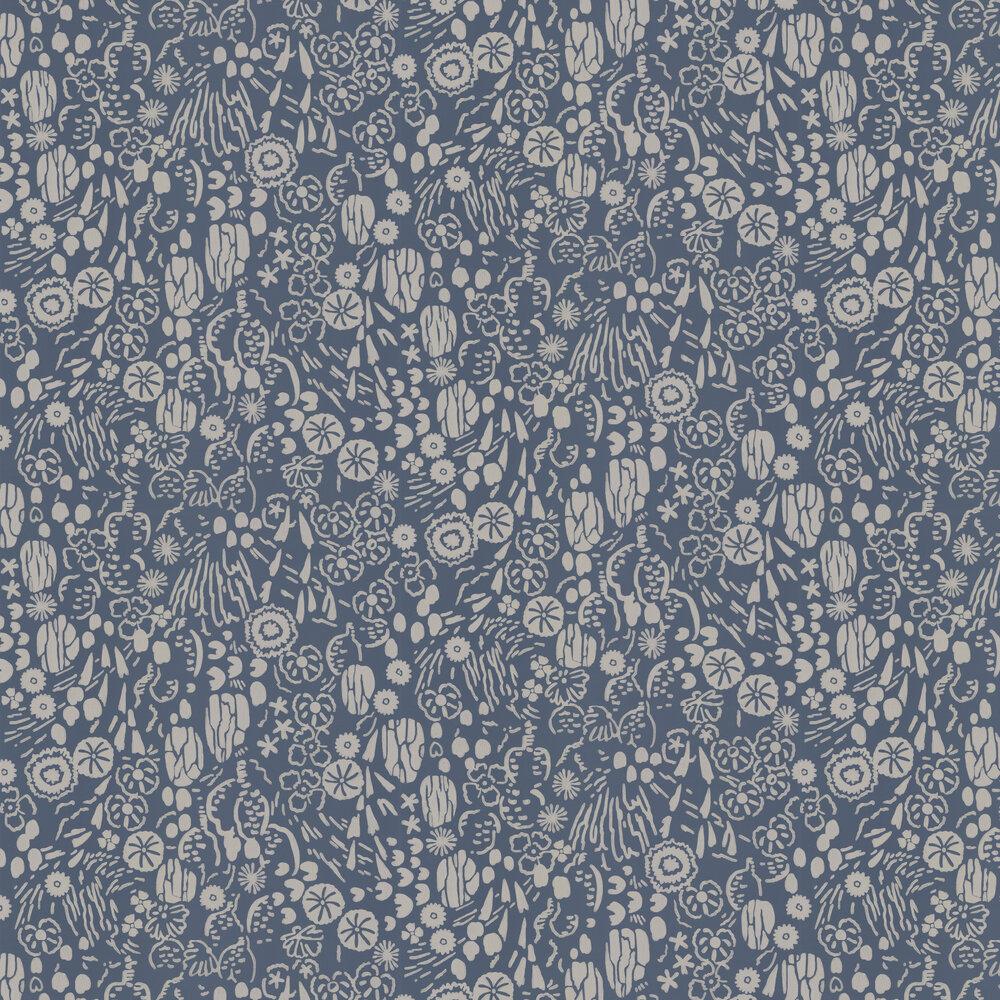 Atacama Wallpaper - Blue - by Farrow & Ball