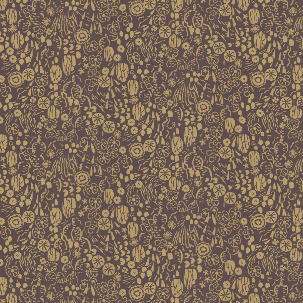 Atacama Wallpaper - Brown - by Farrow & Ball