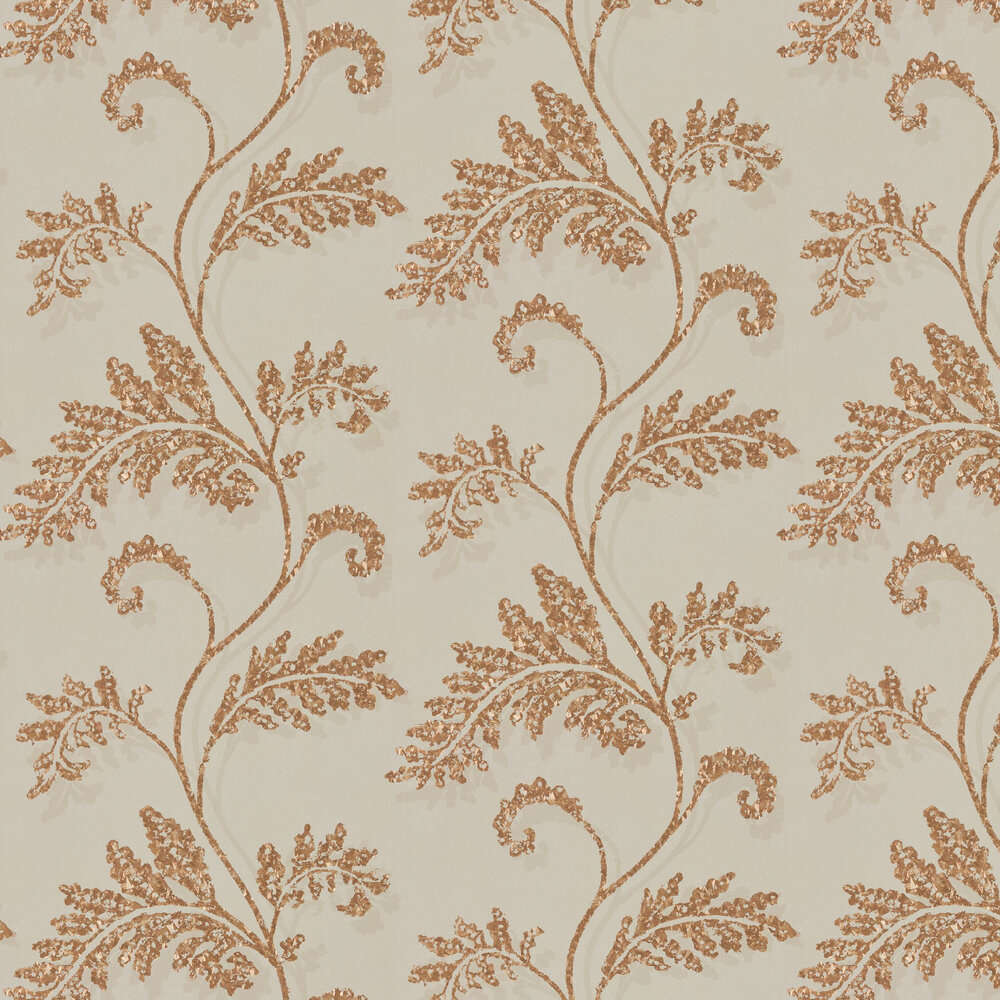 Lucero Wallpaper - Heather & Rose Gold - by Harlequin