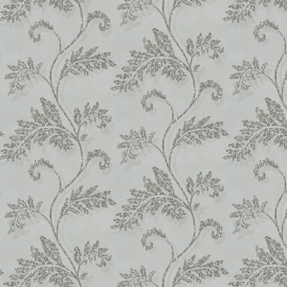 Lucero Wallpaper - Mist & Platinum - by Harlequin